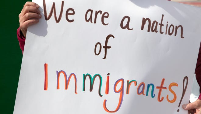 Protest sign in support of Immigration.