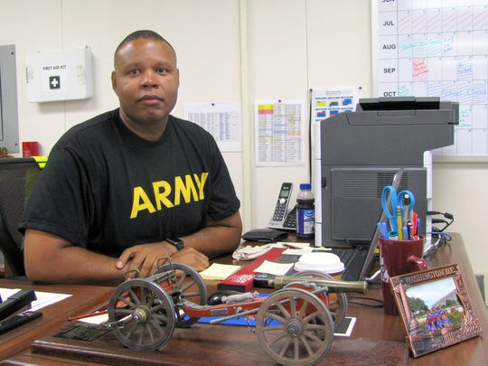 Senior Army instructor 1st Sgt. Anthony Dinkins is new to the DHS JROTC program ans says he is excited for the opportunity to work with Wildcats.