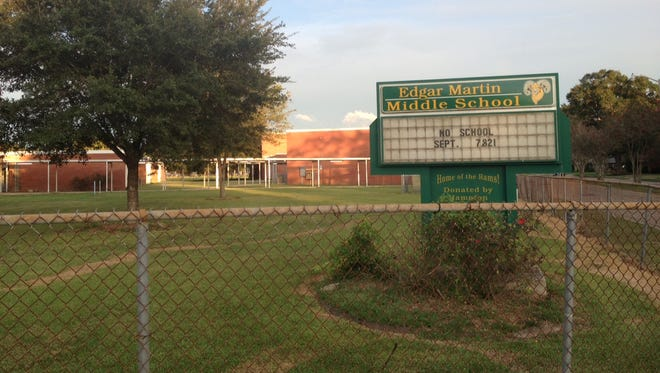 Edgar Martin Middle School in Lafayette.