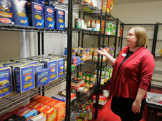 Kerri Willson, director, talks about the food pantry