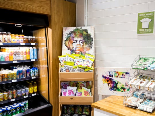 Woodstock's Market, a self-service food kiosk at the