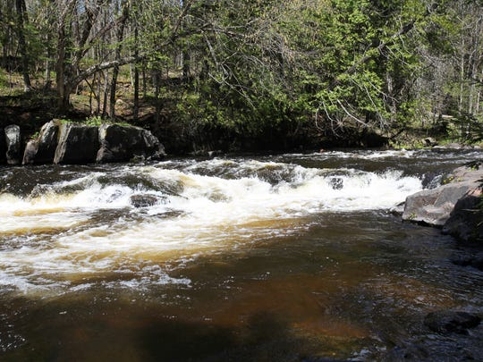 Bagley Rapids Campground in the Chequamegon-Nicolet National Forest backs up rapids along the Oconto River near Mountain in Oconto County.