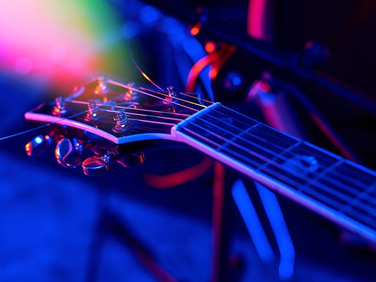 Guitar at the concert