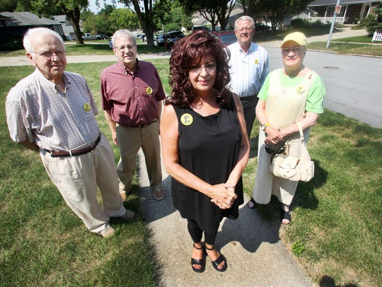 Johnny Gosch's mother, Noreen, center, and a few of