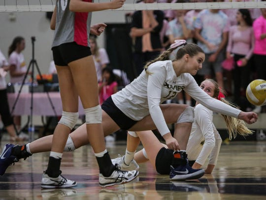 "Highlights from the ""volleyball game of the year."" Xavier Prep beat Palm Desert 3-1 Monday, October 16, 2017."