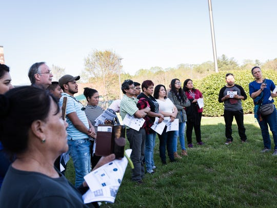 People in the Latino community convened to protest