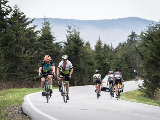 An estimated 1,000 cyclists participated in the 102-mile Assault on Mt. Mitchell ride which began in Spartanburg, S.C and ended at the summit of Mt. Mitchell.The ride was hosted by the Freewheelers cycling club.