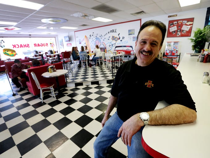 Mark Poulos, owner of Sugar Shack in Altoona, shown