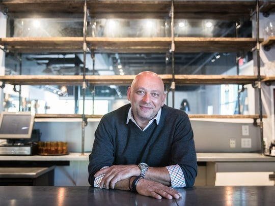 Vijay Shastri at his new restaurant space formerly
