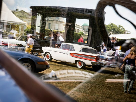 Classic cars go on display during the Goodwood Festival