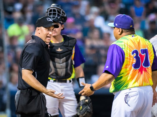 The Asheville Tourists play in the South Atlantic League, which employs two umpires per game. Salaries range from $2,000-$2,300 monthly.