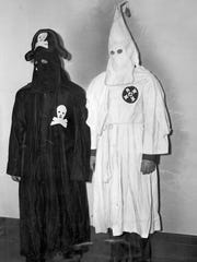 The costumes of the Black Legion and Ku Klux Klan in