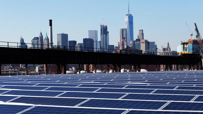 Solar panels in New York