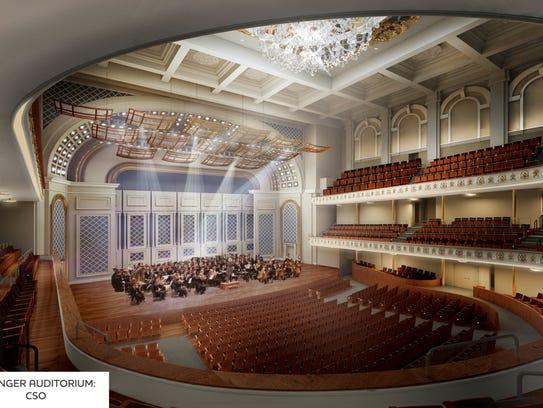 Rendering of auditorium.