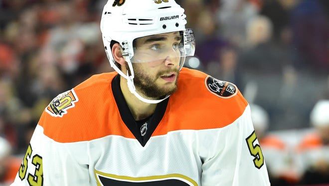 Shayne Gostisbehere sat as a healthy scratch Thursday night. It will likely be only a one-game stint.
