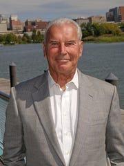 Mayor Mike Purzycki stands along the Wilmington Riverfront.