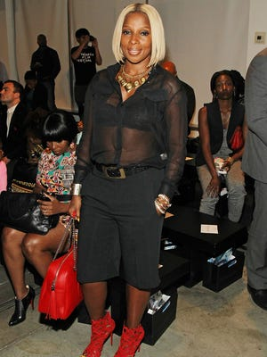 Mary J. Blige at Harlem's Fashion Row.