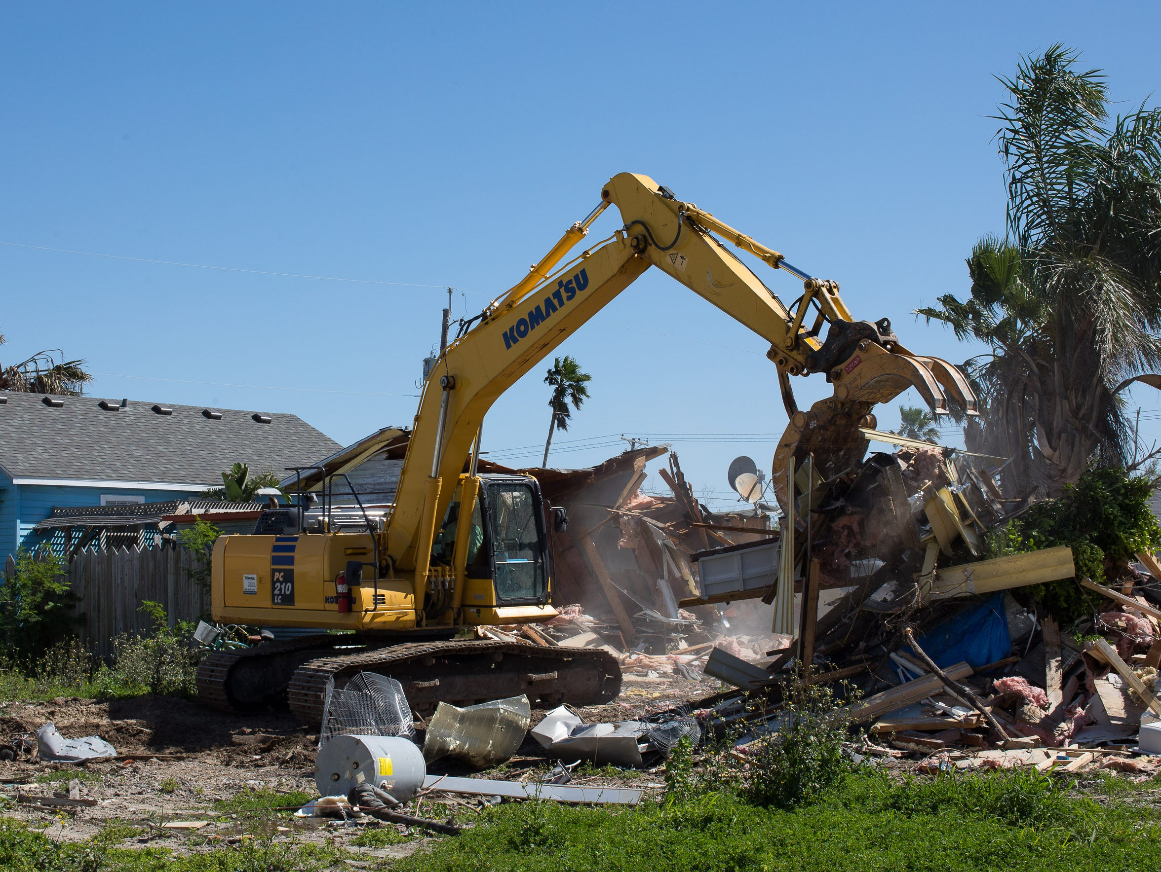 Tom Gomez' home on East Oakes Ave. was demolished March 20. The house, badly damaged by Hurricane Harvey, was composed of a pair of adjoined cottages. The home he and his wife plan to build won't look the same as the one torn down, but they will try to make it fit in with the rest of the surrounding Old Town neighborhood.