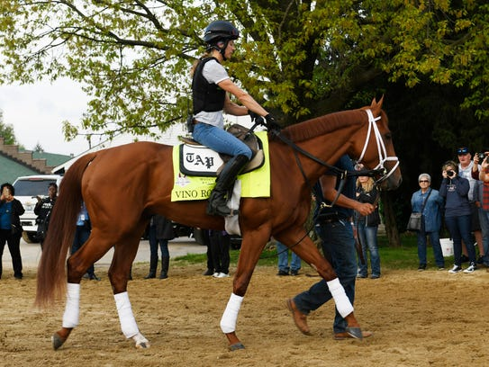 Exercise rider Adele Bellinger leads Kentucky Derby