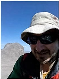 Fort Collins resident Brian Perri texted this photo of himself on the summit of Mount Meeker on Saturday, June 30, 2018.