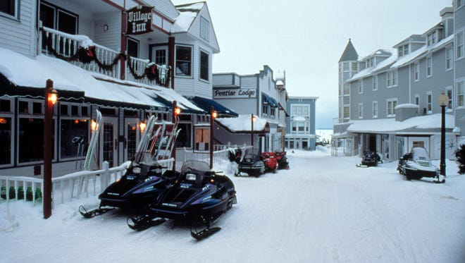 Mackinac Island is a popular destination in the winter, as well as the summer.