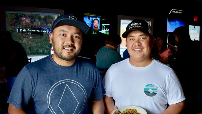 Owners Seng Saechao, left, and Pao Tane at Fusion on Hartnell in east Redding.