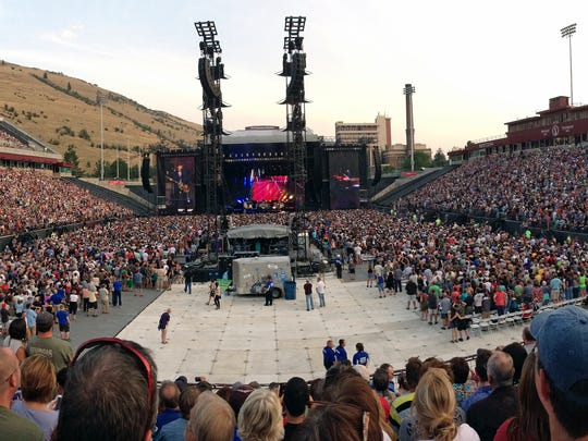 """A panoramic shot of the crowd as Paul McCartney opens with the classic Beatles hit """"Eight Days A Week"""" during his concert in Missoula Tuesday night."""