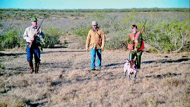 Larry Grove, on left, took his son, Jason Grove, on right, hunting and fishing as often as time and circumstances allowed.