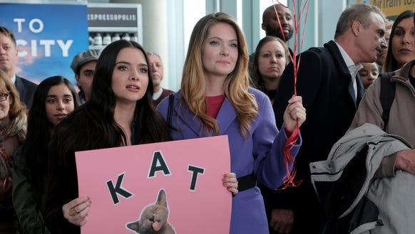Jane (Katie Stevens) and Sutton (Meghann Fahy) anxiously