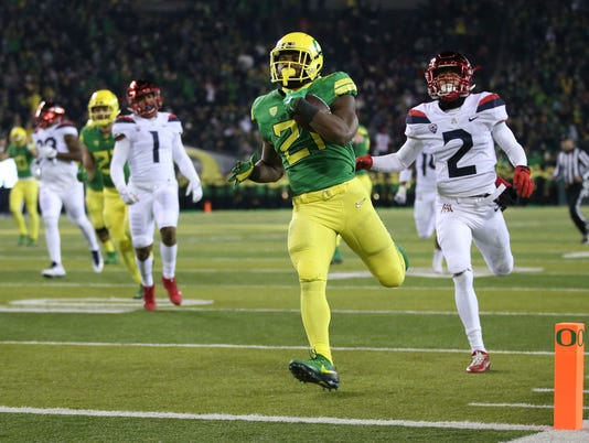 Royce Freeman, Lorenzo Burns