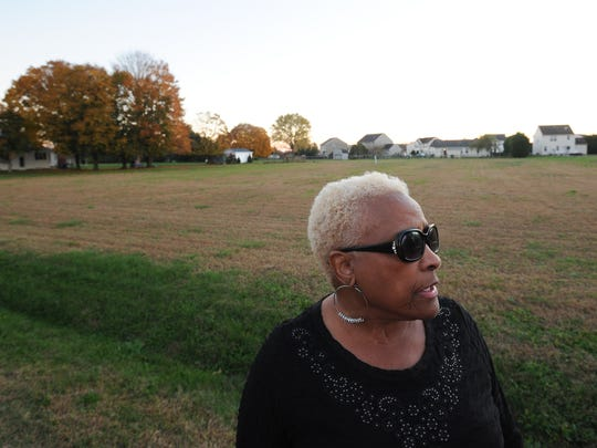 Barbara Bond, a resident of Chimney Hill in Felton, talks about the turkey vultures that have plagued their community.