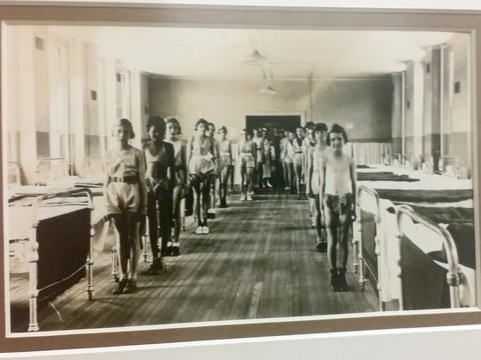 In this undated photo, patients at the childrens' hospital lineup for a photo