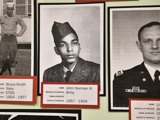 John Norman IV, is featured in the  Grove Library this month on its Military Honor Wall and History Wall.