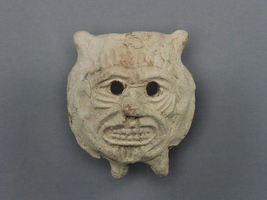 The Mesopotamian deity Pazuzu is often depicted with