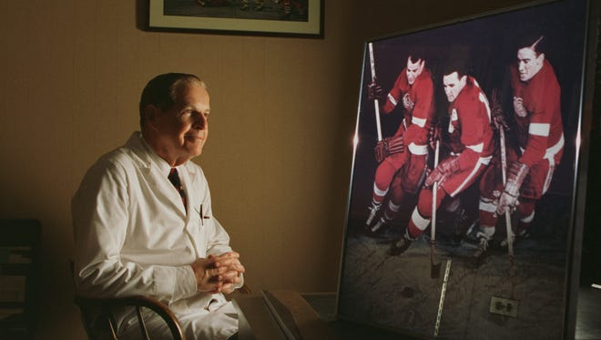 Dr. John Finley hd served as the Red Wings team physician for over 40 years.