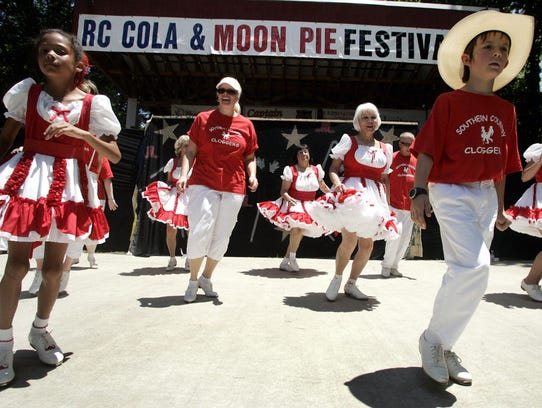 The Southern Country Cloggers perform at a previous