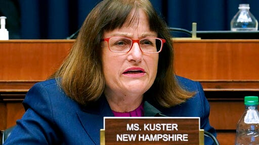 FILE - In this May 14, 2020, file photo, Rep. Ann Kuster, D-N.H., asks questions during a House Energy and Commerce Subcommittee on Health hearing on Capitol Hill in Washington. Kuster is the incumbent Democrat candidate in the 2nd Congressional District in New Hampshire's Sept. 8, primary election.