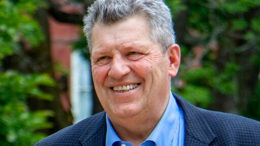 "This 2020 photo provided by his campaign shows Bryant ""Corky"" Messner, Republican candidate for U.S. Senate in the Sept. 8, 2020, New Hampshire primary election."