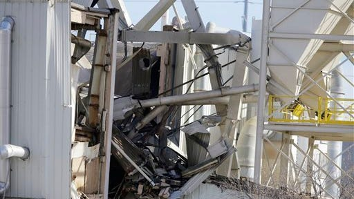 The International Nutrition plant is in wreckage  in Omaha, Neb., where a fire and explosion took place Monday. At least nine people have been hospitalized and others could be trapped at the animal feed processing plant.