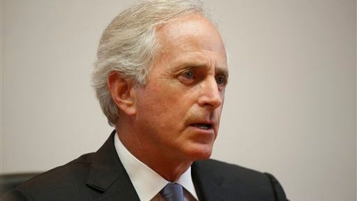 U.S. Sen. Bob Corker speaks to the Chattanooga Times Free Press staff,  Wednesday, Aug. 20, 2014, in Chattanooga, Tenn. Republican Sen. Bob Corker says Tennessee's discussions about the role of organized labor at Volkswagen's plant in Chattanooga were clouded by misunderstandings. (AP Photo/Chattanooga Times Free Press, Doug Strickland) THE DAILY CITIZEN OUT; NOOGA.COM OUT; CLEVELAND DAILY BANNER OUT; LOCAL INTERNET OUT; MANDATORY CREDIT: DOUG STRICKLAND/CHATTANOOGA TIMES FREE PRESS