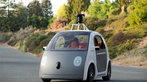 Google's prototype self-driving car.