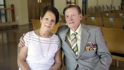 Ruth Calabro and her fiancee, Jack Holder, a WWII veteran,