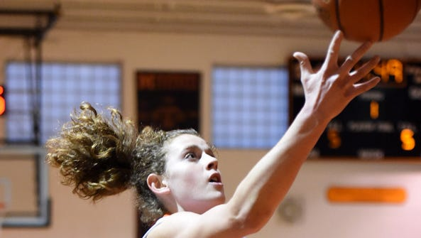 Marlboro's Missy Sadler goes for a layup against Rondout