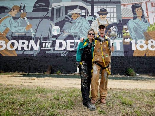 Kelly Golden and Jordan Zielke, both of New Baltimore,