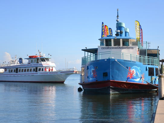 The Canaveral Princess approaches the dock, with the