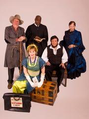 Actors portraying a California gold rush miner, Titanic