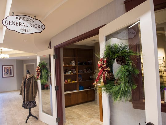 A general store is one of the many personalized touches