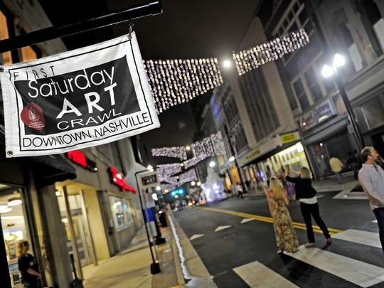 The Nashville downtown art crawl is a fun free night out during which you can see art in dozens of galleries along Fifth Avenue and around downtown. It takes place the first Saturday of every month.
