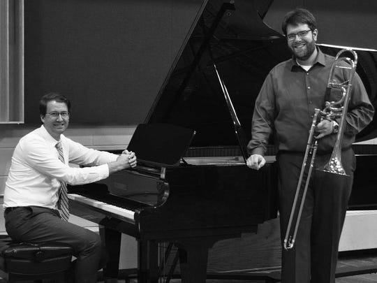 Brad Schultz, left, and Dr. Benjamin Yates will give a free concert at 5 p.m. March 20 at Silver Lake College.