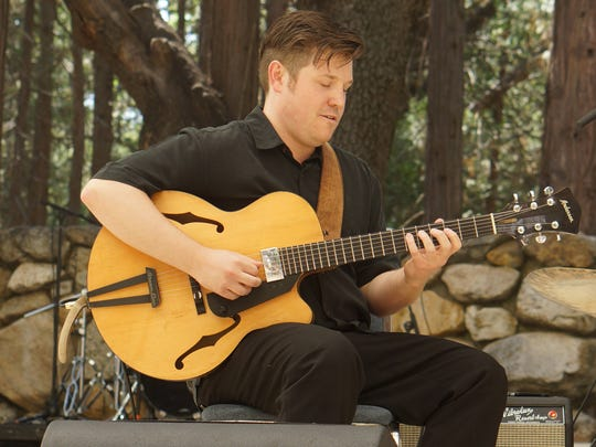 Idyllwild Arts Academy alumnus Graham Dechter performs at the Main Stage in the Holmes Amphitheater as part of Jazz in the Pines